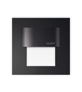 0,4W LED-spot (60mm firkantet, Svart)