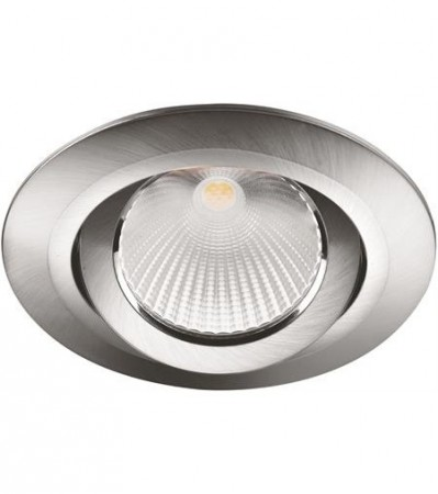 LED Downlight MD-825, 230V, Stål satin, Vippbar