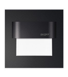 0,8W LED-spot (73mm firkantet, Svart)