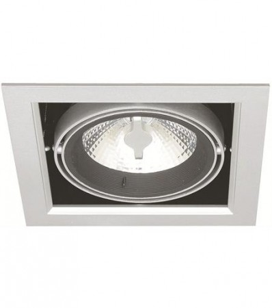 LED Downlight MD-250, 230V, 1x10W, Sølv